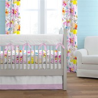 Watercolor Floral Crib Bedding 2-Piece Set
