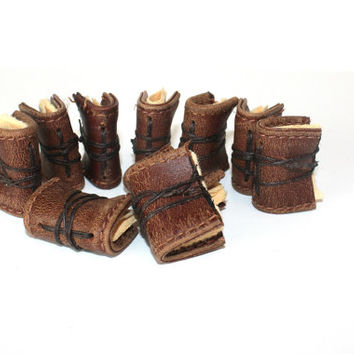 Miniature Books made from Old Leather - Vintage Journals - Teachers Gift - Stocking stuffers