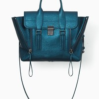 Turquoise Pashli Medium Satchel