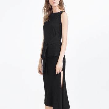 SKIRT WITH SLIT - Midi-SKIRTS-WOMAN | ZARA United Kingdom