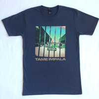 "Tame Impala ""Lonerism"" Navy Marle T Shirt Guys - Spinning Top Music"