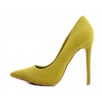 Shoe Republic Kimiko Olive Pointy Toe Pumps wowtrendz