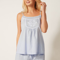 India Embroidered Pyjama Set - Blue Mix | Boux Avenue