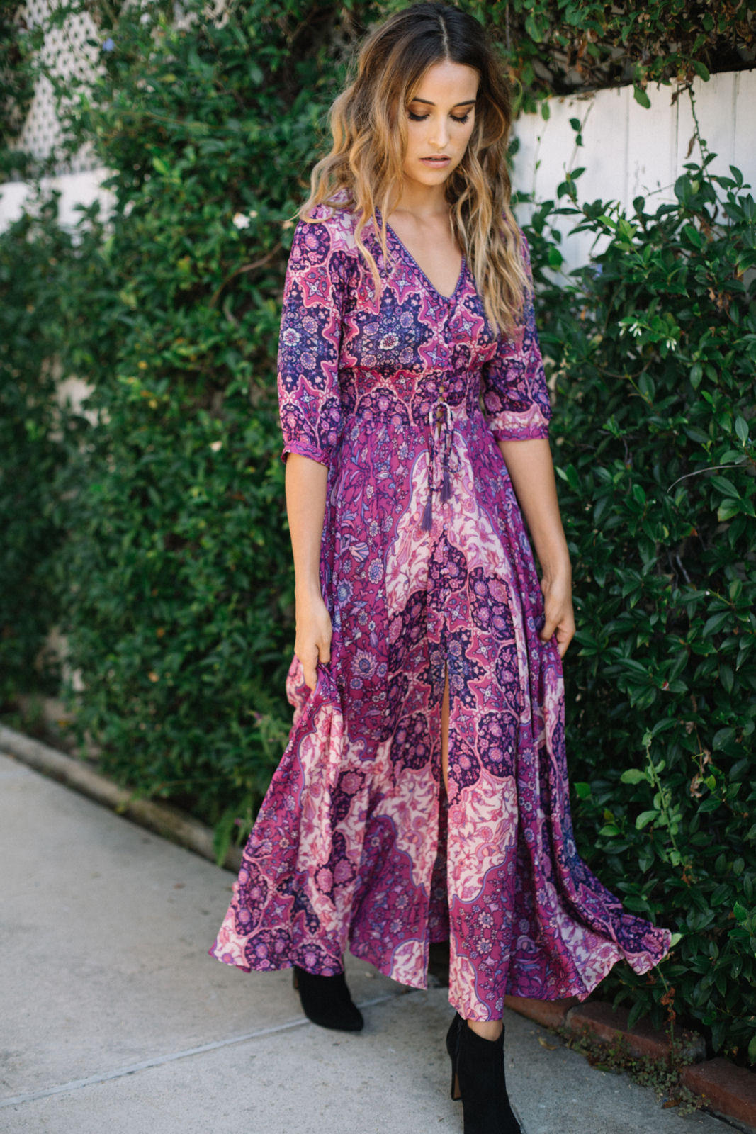 Spell || Kiss the sky gown in violet from Soleil Blue