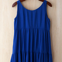 Easy Breezy Swing Dress, Cobalt Blue