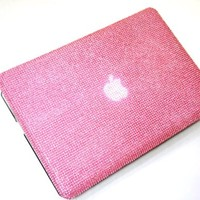Baby Pink Diamante Bling Cover Macbook Pro 13.3,swarovski Bling Style Diamond Case for 13.3-inch Macbook Pro 2010/2011 and 2012 Models