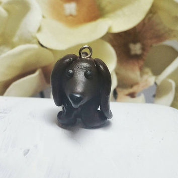 Dachshund charm, Cute dog charm, Miniature dog charm, Wiener dog charm, Animal charms, Polymer clay charm, Doxie charm, Charm for braclelet