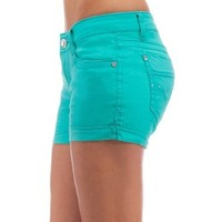 WallFlower Juniors Colored Stretch Shorts
