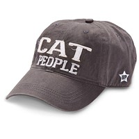 Cat People - Unisex Adjustable Embroidered Baseball Cap - Gray