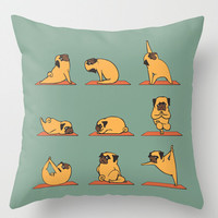 Pug Yoga Custom Pillow case (two sides) for12x12 14x14 16x16 18x18 20x20 24x24 inch Free shipping