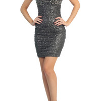 PRIMA C1514 Sequin Homecoming Cocktail Dress