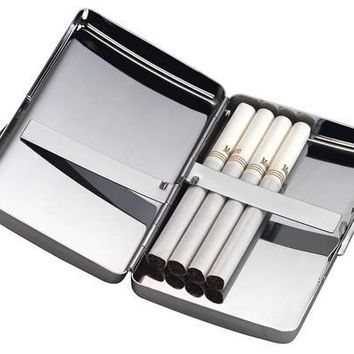 Free Engraved Personalized Custom Cigarette Case Silver