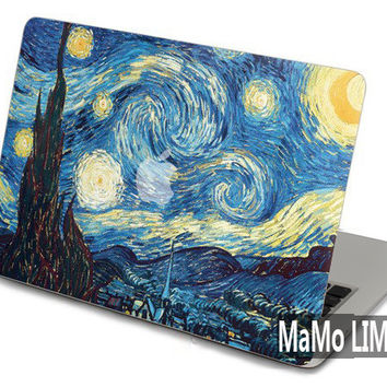 Starry Night--Macbook Decal Macbook Skin Macbook Sticker Mac Cover Macbook stickers for Apple Macbook vinyl sticker Macbook pro Macbook Air