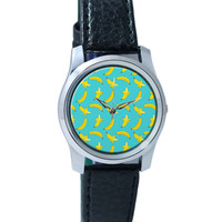 Banana Pattern Wrist Watch