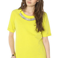 LA Boutique Top The Glam Kills Top in Lime.