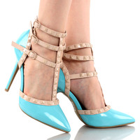 Adora-55E Pointy Toe Strappy Stiletto High Heel Pumps