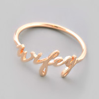 Rose Gold Wifey Ring - Size 6