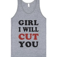 Girl I Will Cut You-Unisex Athletic Grey Tank