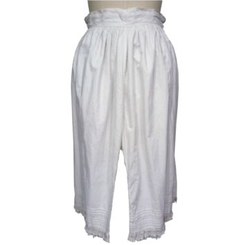 Victorian White Cotton Bloomers