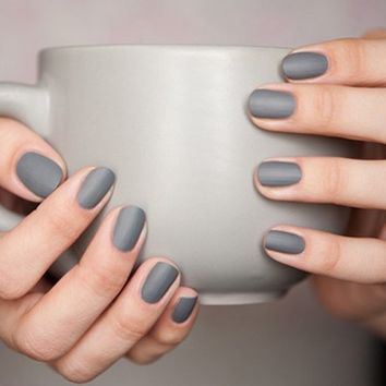 Matte Grey Nail Polish by ZOYA