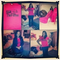 """@pinkpraise modeling the """"GOD THE FATHER"""" tee!! thanx for posting ... - crossstitchapparel @ Instagram Web Interface - 5th village"""