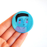 fridge magnet boy magnet portrait