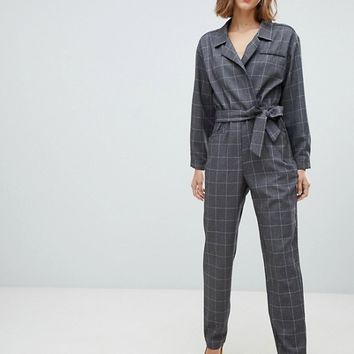 Mango check jumpsuit | ASOS