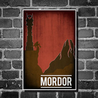 Lord of the Rings movie poster minimalist poster geekery art hobbit print mordor