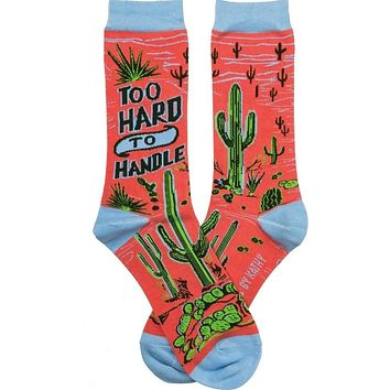 Too Hard To Handle Cactus Socks in Vivid Desert Orange