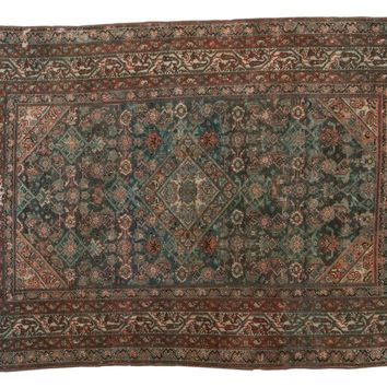 4x6 Vintage Distressed Malayer Rug