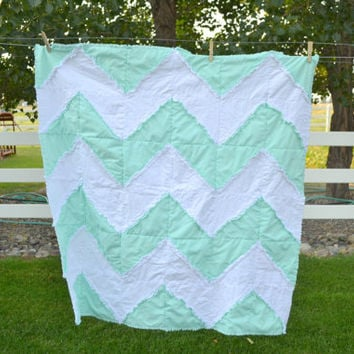 Rag Quilt Pattern, Chevron for Toddler Bedding or Baby Blanket, SEWING Instructions, Instant Download PDF