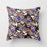 Tonde Iru Tori Throw Pillow by Lydia Meiying