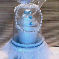 BIBBITY BOBBITY BOO...(set of 4) Cinderella themed mini cupcake stand dome pedestals