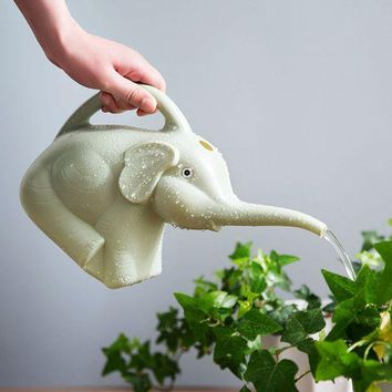 ONETOW Plastic Elephant Watering Can 2 quart 1/2 Gallon Watering Pot Jug Home Garden Patio Lawn Gardening Tool Plant Outdoor Irrigation