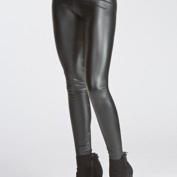 Liquid Faux Leather Leggings