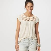 AE Knotted Zip-Back Tee | American Eagle Outfitters
