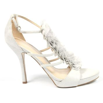 Nine West Womens Ankle Strap Sandal NWFAIRYTALE WHITE