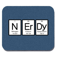 Nerdy Periodic Table of Elements Mouse Pad