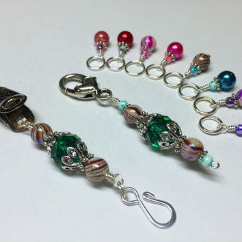Portuguese Knitting Pin and Stitch Marker Gift Set- Mixed Colors