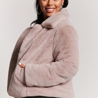 Plus Size Faux Fur Coat