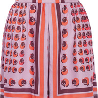 Anna Sui - Printed bamboo-twill skirt