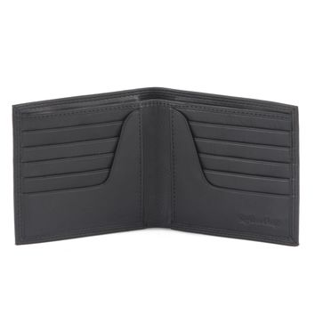 300798-BL Bifold Hipster Leather Wallet in Black | Style n Craft