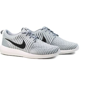 AUGUAU NIKE Roshe Two Flyknit - Wolf Grey/Black-Gamma Blue