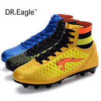 Adult high ankle soccer shoes men football boots kids botas de futbol New superfly soccer cleats boots Size 33-44
