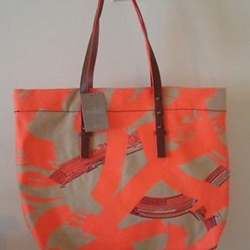 NWT Anthropologie Lexington Canvas Tote Bag - by Miss Albright