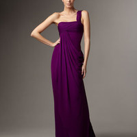 Notte by Marchesa - One-Shoulder Column Gown - Bergdorf Goodman