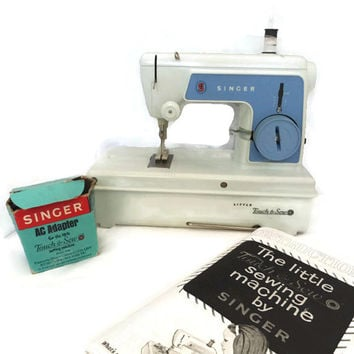 Vintage Toy Sewing Machine Singer the Little Touch and Sew
