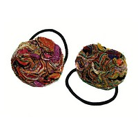 Fabric Waves Ponytail Holder
