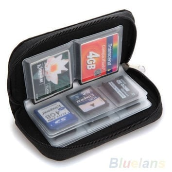 SD SDHC MMC CF Micro SD Memory Card Storage Carrying Pouch Case Holder Wallet = 1652798340