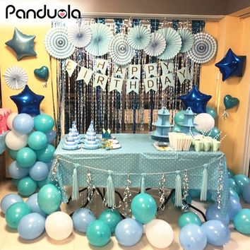 20Pcs 2.2g Ballon Party  Happy Anniversary Balloons Birthday Ornaments Ballon  Baby 1st Birthday Globos Party Decorations